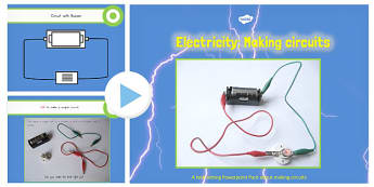 Year 4 Electricity Making Circuits Teaching PowerPoint Text - electricity