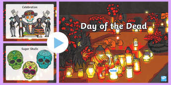 Day of the Dead Word and Picture PowerPoint - dia de los muertos, powerpoint, word and picture powerpoint, day of the dead powerpoint, day of the