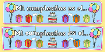 Pancarta de cumpleaños - cumplir, años, exposición, calendario