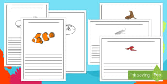 Under the Sea Adventure Writing Frames - finding nemo, finding dory, under the sea adventure, writing frames