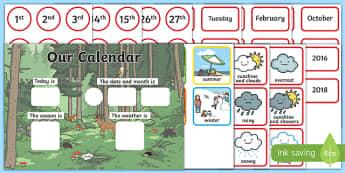 Woodland Creatures Display Calendar
