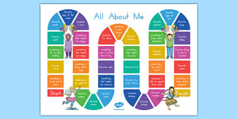 All About Me Board Game
