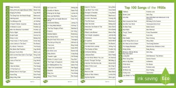 Top 100 Songs of 1950 Overview - Singing, Tips, Elders, Activity Co-ordinators, Care Homes, Elderly Care, 1950s, Music, Quiz, Prompt,