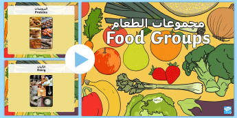 Food Groups Photo PowerPoint Arabic/English - Food Groups Photo Powerpoint - food groups, food, photo powerpoint, powerpoint, food photos, food po