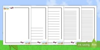 Bordures de page : L'été - bordures de pages l'été, été, vacances, production d'écrits, bordures, pages, saisons, plage,