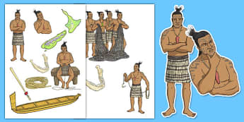 Maui and the Giant Ika Story Cut-Outs