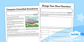 Computing: Controlling Devices Flowol Year 5 Unit Home Learning Tasks