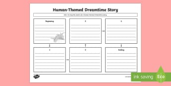 Aboriginal Dreaming Human-Themed Story Map Activity Sheet - Aboriginal storytelling, aboriginal history, indigenous history, indigenous storytelling, australian