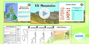 Geography: Magnificent Mountains: UK Mountains Year 5 Lesson Pack 2