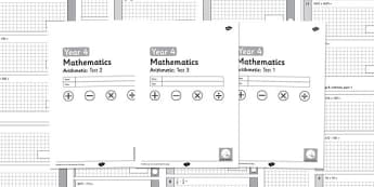 Year 4 Arithmetic Full Tests - arithmetic, full tests, full, tests, year 4