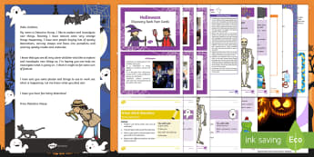 Editable Halloween Detective Letter and Resource Pack - EYFS, Early Years, Key Stage 1, KS1, topic starter, topic introduction, Wow activities, lesson obser