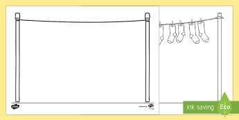 Doodle Draft Washing Line Activity Sheet  - ROI, Ireland, doodle, draft, sketch, starter, creative, drawing, art, activity sheet, Irish, workshe