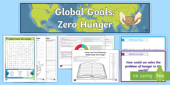 Global Goals Zero Hunger CfE Second Level IDL and Resource Pack - Global citizenship, topic pack, 2nd level, global issues, resource suggestions, people in society, r