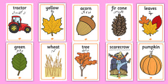 Autumn Display Posters Urdu Translation - urdu, Autumn, poster, display, harvest, harvest festival, fruit, apple, pear, orange, wheat, bread, grain, leaves, conker