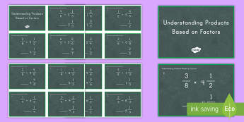 Understanding Products Based on Task Cards - products, factors, multiplication, comparisons, fractions, mixed numbers