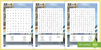 Sports Day Differentiated Word Search Spanish - Spanish, KS2, sports, day, differentiated, wor search, worksheet,Spanish