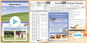PlanIt Y4 SPaG Lesson Pack: Apostrophes  - planit, y4, spag, lesson pack, lesson, pack
