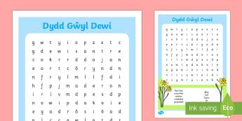 Chwilair Dydd Gŵyl Dewi Chwilair - Dewi Sant, Dydd Gwyl Dewi, chwilair, Cymru,Welsh.