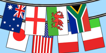 Rugby World Cup 2015 A4 Flag Bunting 20 Countries - rugby, world cup, bunting