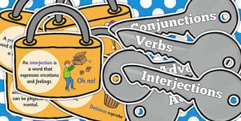 Grammar Word Types on Keys and Locks - grammar, keys, locks