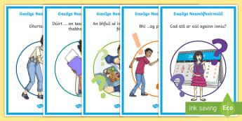 ROI Informal Language (Neamhfhoirmiúil) 5th and 6th Class Display Posters - Gaeilge-Irish - neamhfhoirmiúil, informal language, posters,Irish