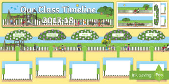 Our Class Timeline 2017 to 18 Friendship Themed Display Timeline - CfE Class Display, back to school display, friendship, health and wellbeing,Scottish