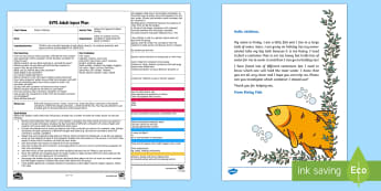 EYFS Finley Fish Capacity Problem Solving Adult Input Plan and Resource Pack - EYFS, Early Years, water, water cycle, rain, rivers, sea, oceans, fish, under the sea, Maths, Numera