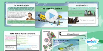 PlanIt - History LKS2 - World War II Lesson 4: The Battle of Britain Lesson Pack  - history, planit, battle of britain, wwii, world war two