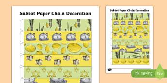 Sukkot Paper Chain Decoration Activity