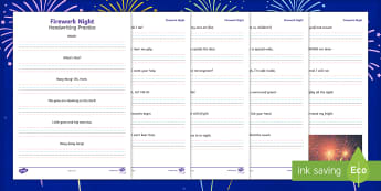 Firework Night Poem Handwriting Activity Sheet - firework night, poem, poetry, handwriting, activity, handwrite