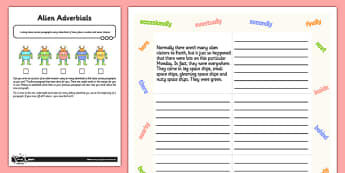 Linking Paragraphs Using Adverbials - Application Activity Test - Adverbs of time, adverbs of frequency, adverbs of number, adverbs of place, tense choice, GPS, grammar, punctuation