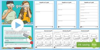 Pack de ressources : PowerPoint et feuilles d'activités - Le goût - Semaine Du Goût, Octobre, Science, Sens, Cycle 2, Cycle 3,