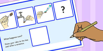 What Happens Next? Fill in the Blank Worksheet for 'Brushing Teeth' - what, happens, next, teeth