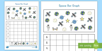 Space Bar Graph Activity Sheet - Common Core Math, space, Worksheet, data, measurement
