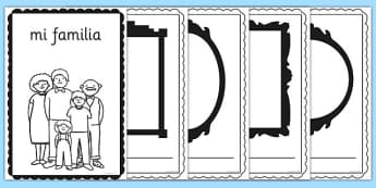 mi familia Book Spanish - spanish, my family, family, book, activity, language