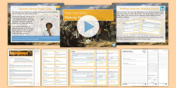 New Horizons Lesson 5: Making Money Differentiated Lesson Pack - Profit, Evaluation, Colony, Trade, Risk, Reward