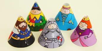 Castles and Knights Cone Characters - castles, knights, cone