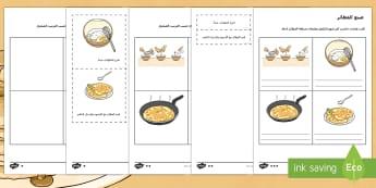 نشاط متمايز حول تعليمات صنع الفطيرة  - فطائر، تعليمات، كتابة، منطق، تسلسل، تمرين، أنشطة