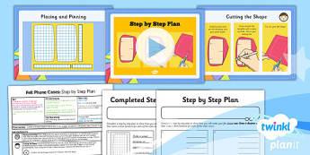 D&T: Felt Phone Cases: Step by Step Plan UKS2 Lesson Pack 5