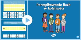 Prezentacja PowerPoint Porządkowanie liczb 0 10 i 0 20 - porządkowanie, liczb, kolejność, rosnąca, malejąca, liczby, liczenie, matematyka, sortowanie, p