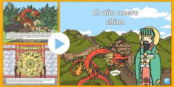 Presentación: Cuento – El año nuevo chino - año nuevo, chino, cuento, leyenda, tradición, tradicional, horóscopo, horóscopo chino,,Spanish