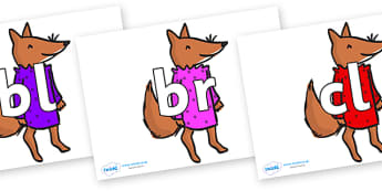 Initial Letter Blends on Small Fox 3 to Support Teaching on Fantastic Mr Fox - Initial Letters, initial letter, letter blend, letter blends, consonant, consonants, digraph, trigraph, literacy, alphabet, letters, foundation stage literacy