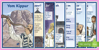 Yom Kippur Display Posters
