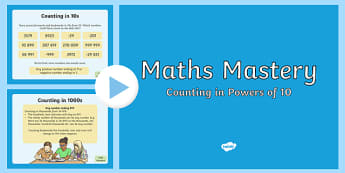 Number and Place Value Counting in Powers of Ten PowerPoint