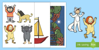 Display Cut-Outs to Support Teaching on Where the Wild Things Are  - EYFS, Where the Wild Things Are, Maurice Sendak,creatures, story, stories, book