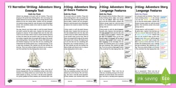 Year 3 Narrative Adventure: Structure and Language Features Example Text - Genre, Writing, Literacy, Fiction, Story, English, exemplar,Australia