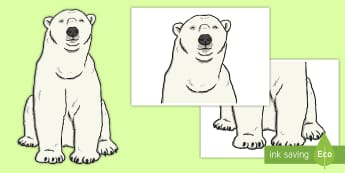 A2 Polar bear Cut-Outs - A2 Polar bear Cut-Outs - life size, emperor penguin, polar regions, cut out,polarregions, bear, bear