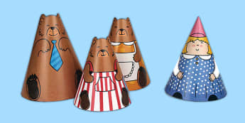 Goldilocks and the Three Bears Cone Characters - cones, roleplay