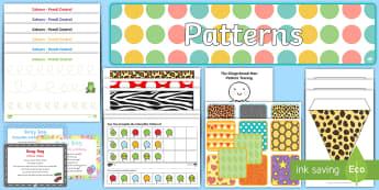 Childminder Patterns EYFS Resource Pack - EYFS Patterns, shape space measure, repeating patterns, child minder, childminding