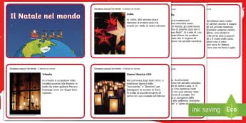 Natale nel mondo Schede informazioni - natalizio, cultura, culturale, mondo, internazionale, materiale, scolastico, italiano, italian